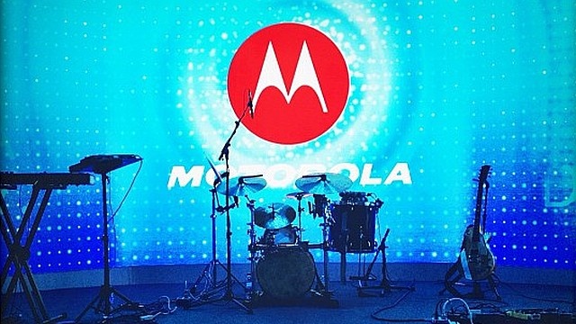 Palco do On Display, evento da Motorola.
