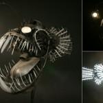 Luminária em forma de tamboril