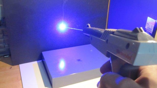 Nintendo Zapper with laser.