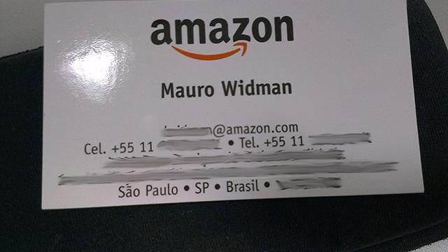 Cartão da Amazon.