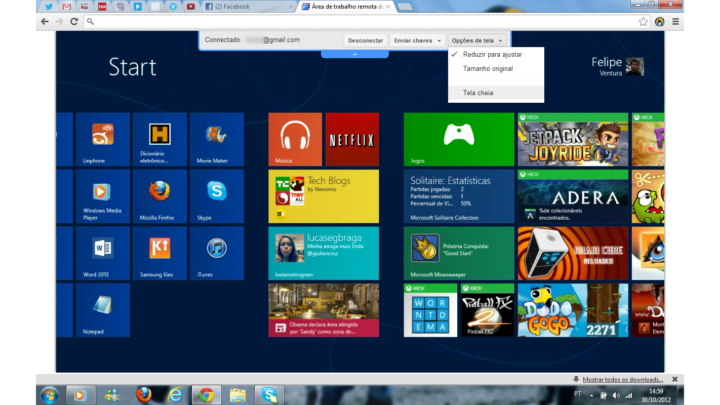 Windows 8 dentro do Windows 7