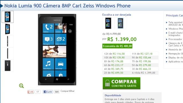 Descontos bem generosos da Nokia.