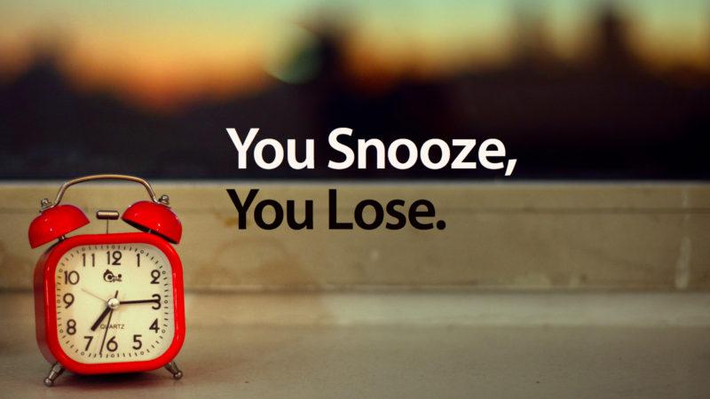 Diga não à soneca.
