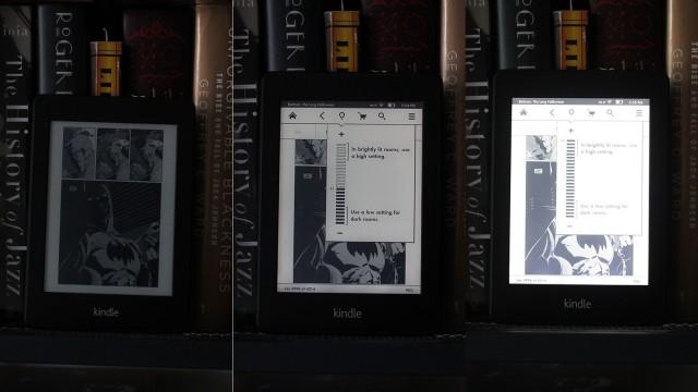 Kindle Paperwhite - iluminação na tela