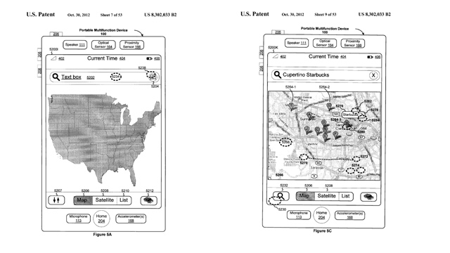 Patente de mapas da Apple.