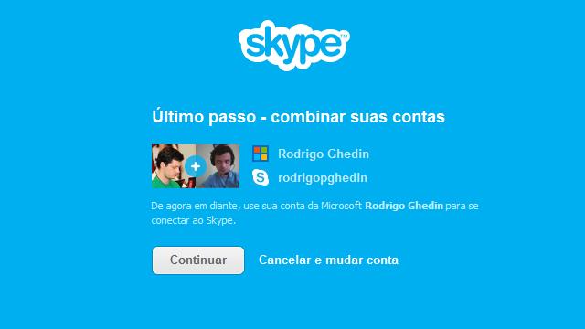 Skype 6: integração de contas.