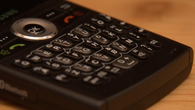 Teclado de celular genérico.