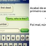 Mensagem de texto por engano