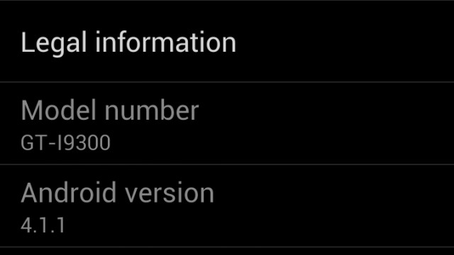 Jelly Bean no Galaxy S III.