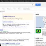 Nova página de resultados do Google