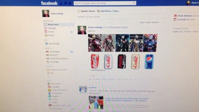Notificações de áudio no Facebook