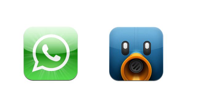 WhatsApp e Tweetbot em promoção.