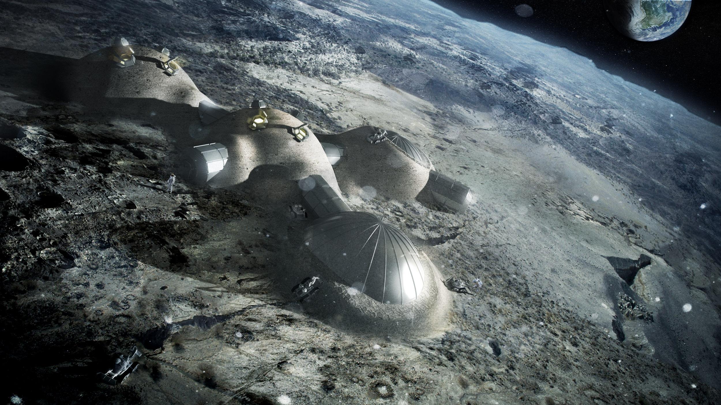 Base lunar crível.