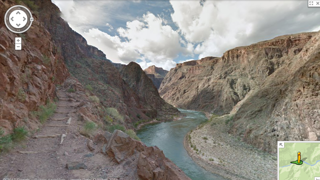 Grand Canyon pelos olhos do Google.