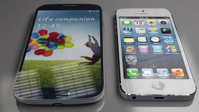 Galaxy S4 e iPhone 5