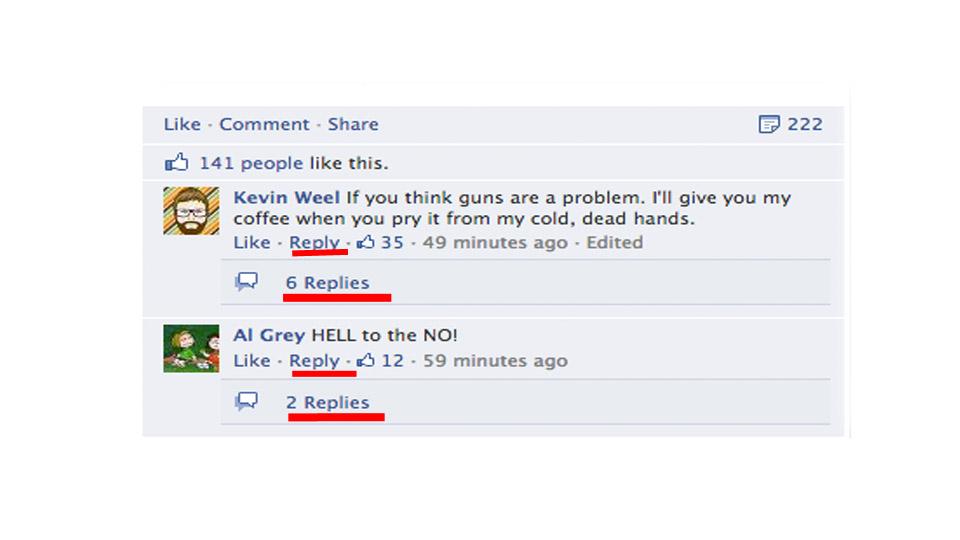 Respostas em comentários no Facebook.