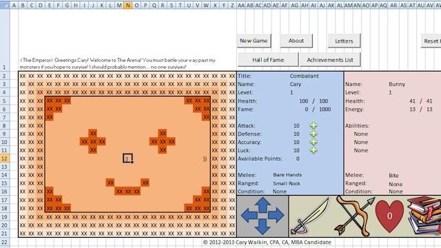 RPG completo no Excel.