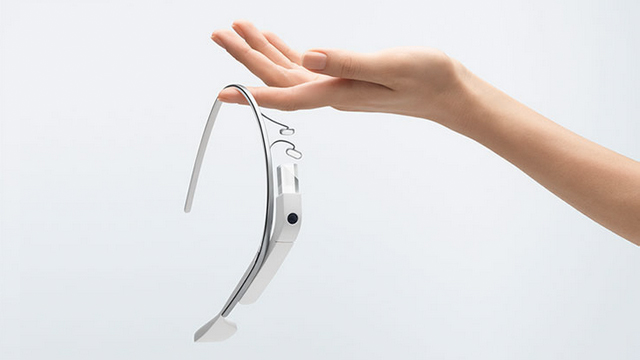 Google Glass in hand