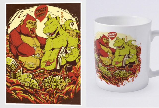 Teenow_Rampage_poster_caneca