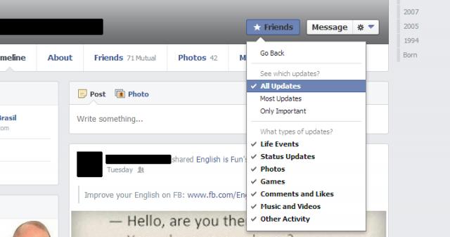 Amigos no Facebook.