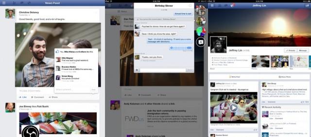 Facebook no iPad.
