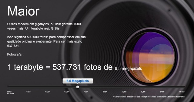 500 mil fotos no Flickr, de graça.