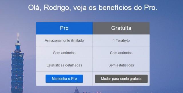 Novas opções de contas pagas no Flickr.