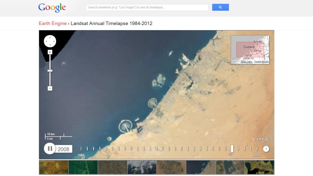 Google Timelapse: veja as enormes mudanças na superfície da Terra ao longo de 28 anos
