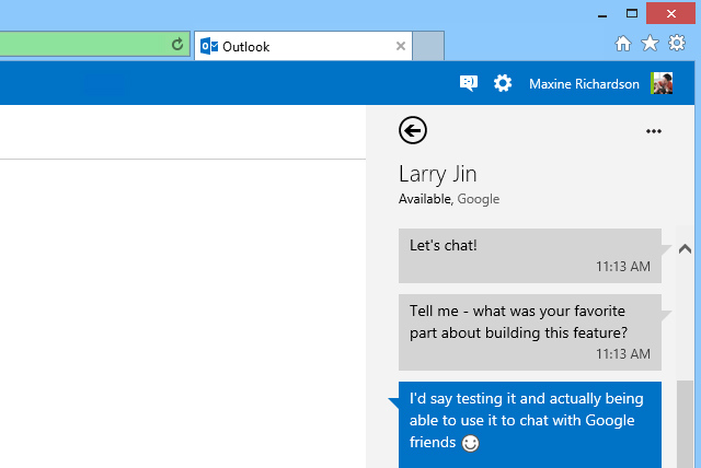 GTalk no Outlook.com