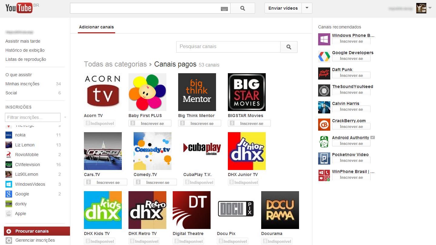 YouTube agora tem canais pagos com assinatura mensal e pagamento em reais