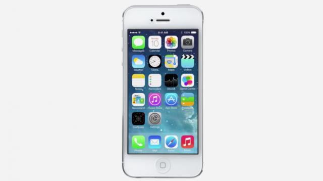 iOS 7 no iPhone.