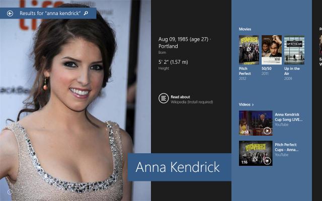 Anna Kendrick deixa a pesquisa do Bing ainda mais bonita.