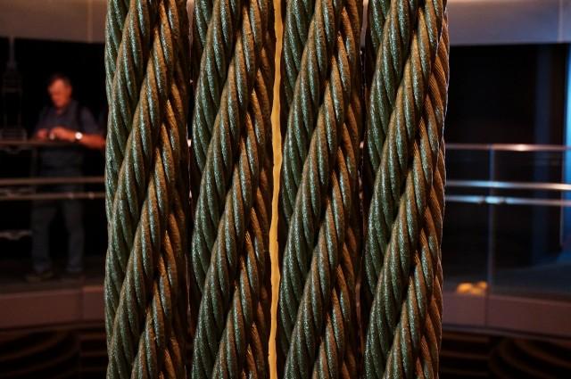 Cabos de aço do Taipei 101.