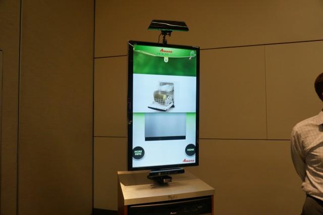 Kinect do Windows para vender lavadora de louça.