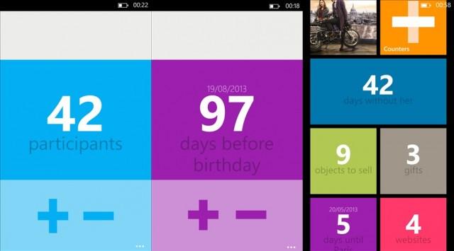 Counters, para Windows Phone.