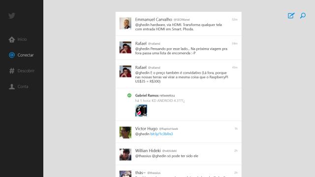 Twitter no Windows: bem ruinzinho.