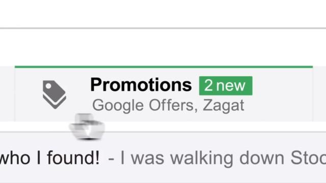 Promoções (ou anúncios?) no Gmail