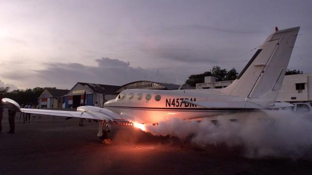 Avião para semeadura de nuvens.