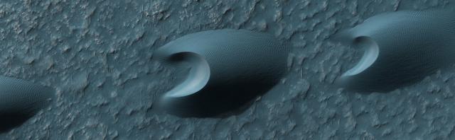 Barchans de Marte.