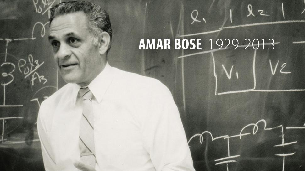 Amar Bose, pioneiro do áudio, morre aos 83 anos