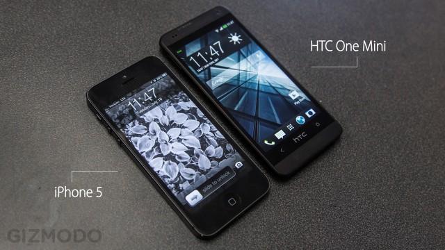 Comparando com um iPhone 5.