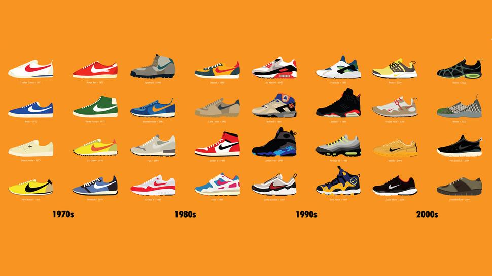 Icônicos Dos Pela Mais Criados Tênis 40 Anos Nike OZiXPku