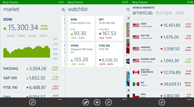 Finanças Bing