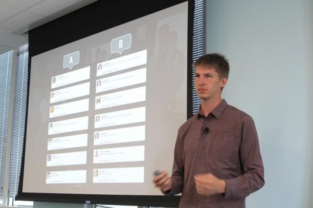 Lars Backstrom, gerente de engenharia do Facebook.