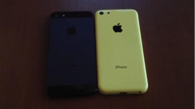 Este pode ser o iPhone 5C amarelo ao lado de um iPhone 5