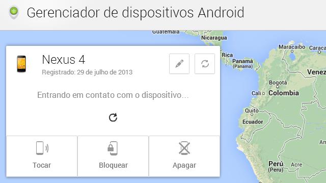 Localizando Nexus 4