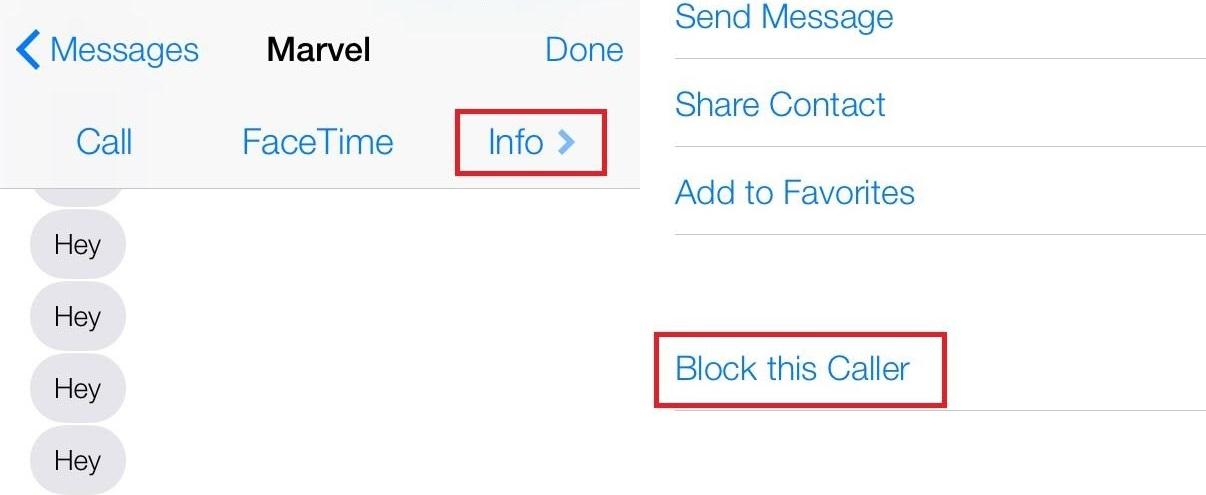 block ios 7 sms