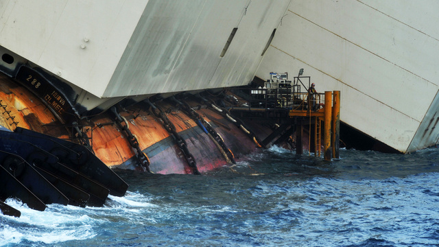 Preparations Are Made To Raise The Sunken Cruise Ship The Costa Concordia