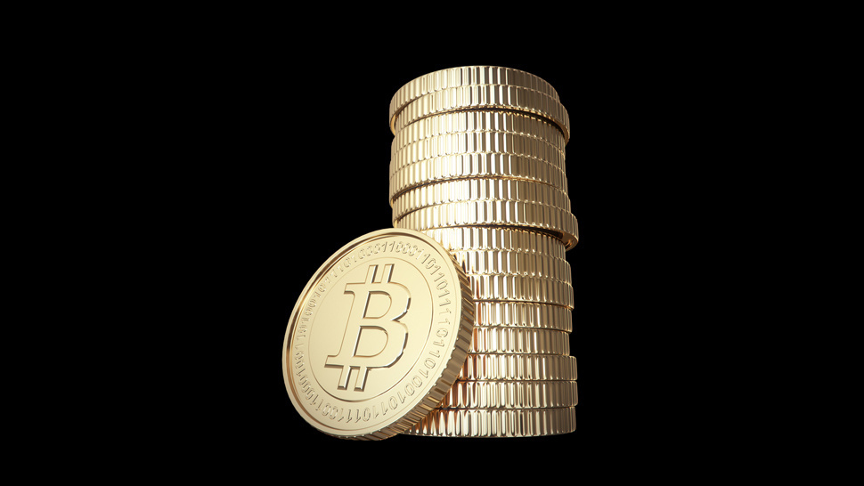 bitcoin black background