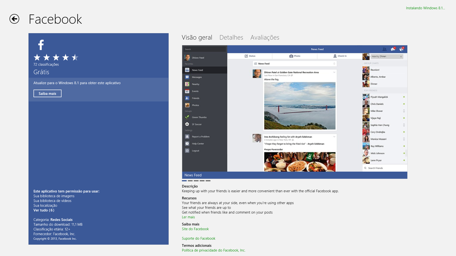 facebook windows 81